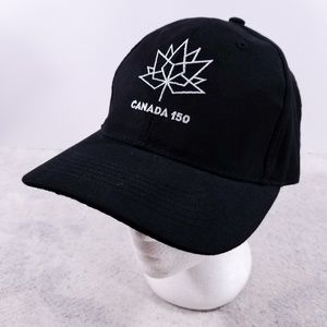 071cd5ae883d6 Canada 150 Big Logo Black Velcro Adjustable Hat